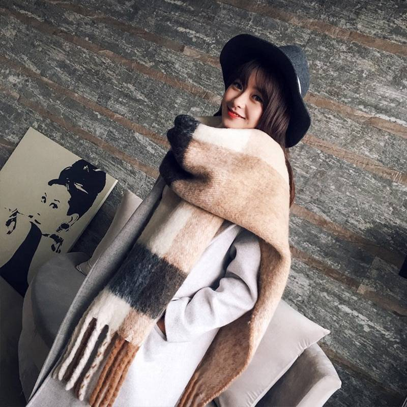 Women's Warm Plaid Printed Scarf Women Accessories Scarves cb5feb1b7314637725a2e7: Beige|Black|Coffee|Cream