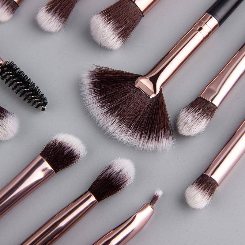 Makeup Brushes 12 pcs Set Makeup Makeup Brushes and Tools Women cb5feb1b7314637725a2e7: Beige|Grey|Grey 2